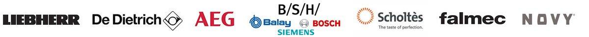Liebherr, De Dietrich, AEG, Grupo BSH (Balay, Bosch, Siemens), Scholtes, Falmec, Novy